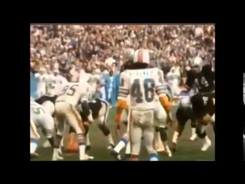 """Raiders vs Dolphins, playoffs 1974, """"Sea of Hands"""" Highlights"""