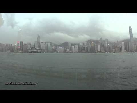 【Hong Kong One Hour】Raining day in Victoria Harbour (day & night)