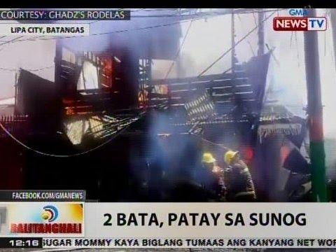 BT: 2 bata, patay sa sunog sa Lipa City, Batangas