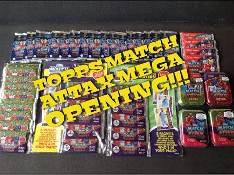 Topps Match Attax Premier League, UEFA Champions League & Extra Mega Opening!!!!