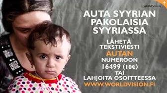 Auta Syyrian pakolaisia jo tänään - kuuntele radiomainoksemme