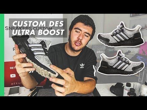 "COMMENT CUSTOMISER DES ULTRA BOOST ! | Adidas Ultra Boost ""Zebra Oreo"" Custom"