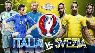 Italia vs Svezia | UEFA EURO 2016 FRANCE 17-06-16