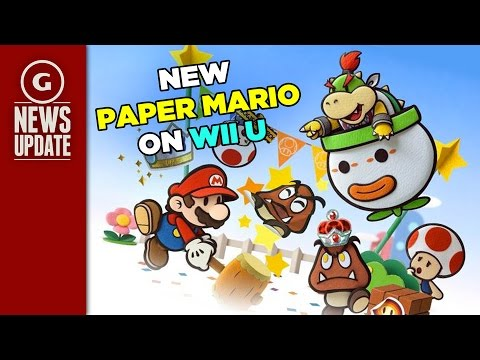 New Paper Mario Game Coming To Wii U Report Says Gs