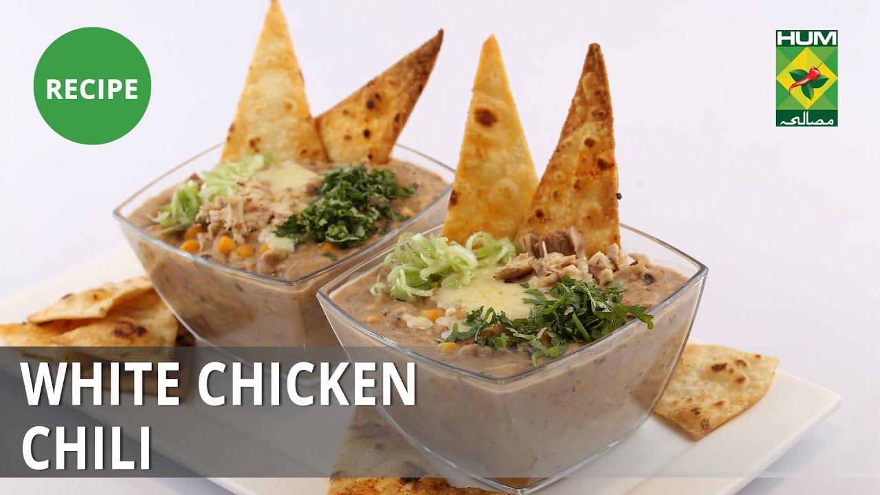 White Chicken Chili Recipe Dawat Abida Baloch Chinese Food Youtube