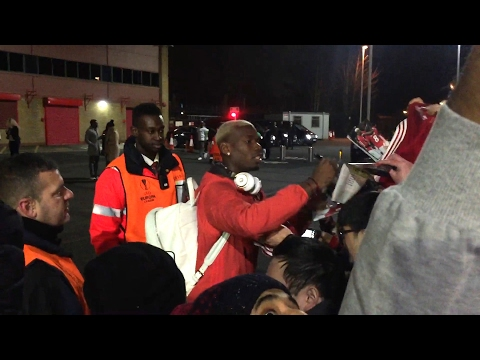 Pogba Brothers Sign Autographs For Fans Outside Old Trafford