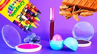 vuclip 5 DIY Makeup Projects You Need To Know! Simple DIY Lipstick using Supplies like EOS, Crayons! !