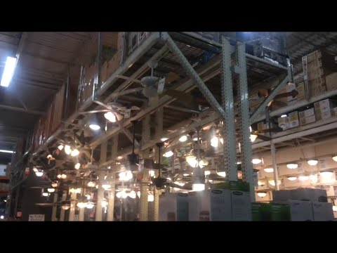 2 Dayton/Marley industrial ceiling fans at Home Depot (back area ...
