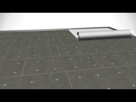 Adhered Fleece-Backed Roofing System - White EPDM - YouTube