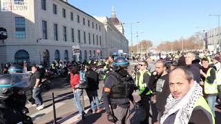 ACTE XIV - Gros débordements sur l'autoroute !  - Gilets Jaunes à LYON - 16 Février 2019