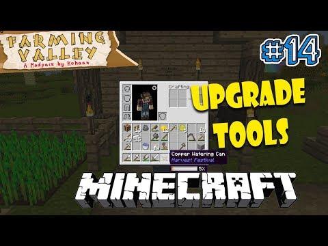 UPGRADE TOOLS! - Minecraft Farming Valley Indonesia #14
