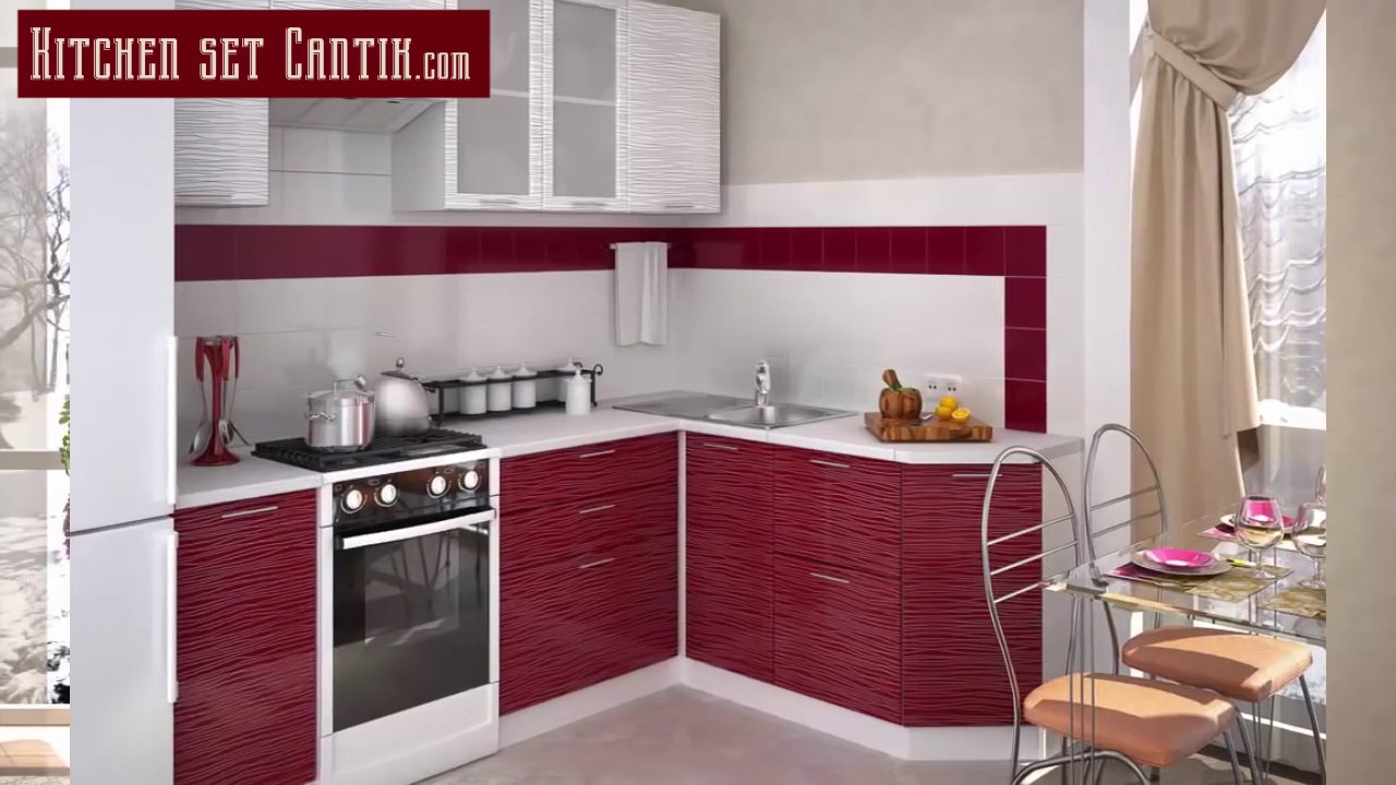Kitchenset Cantik Small Kitchen Design For Small Space Youtube