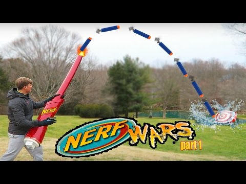 Worlds Largest Nerf Gun Shot Dude Perfect Style (Largest Nerf War Dart Fail)