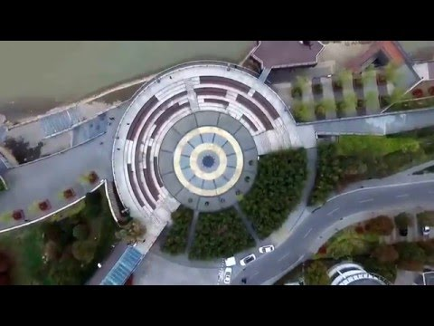The bird view of City Wuhu, at the eastern bank of Yangtze River