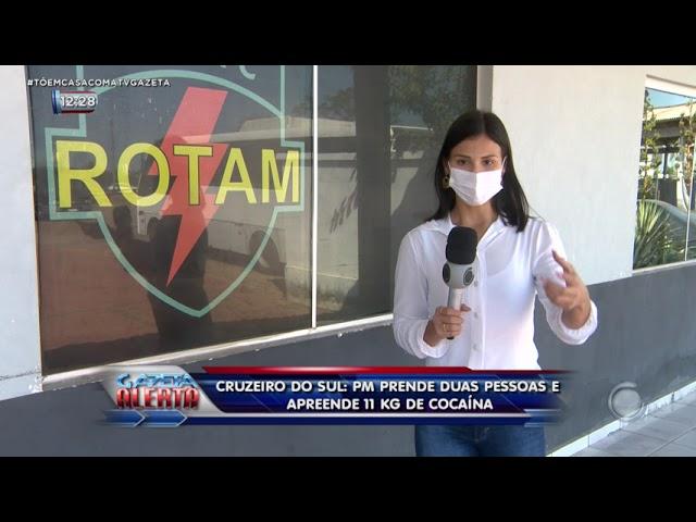 Cruzeiro do sul: PM prende duas pessoas e apreende 11 kg de cocaína