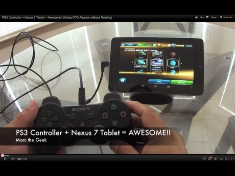 PS3 Controller + Nexus 7 Tablet = Awesome!! (Using OTG Adapter without Rooting)