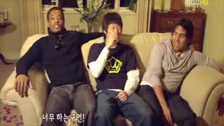 ji sung parks birthday surprise featuring evra and tevez