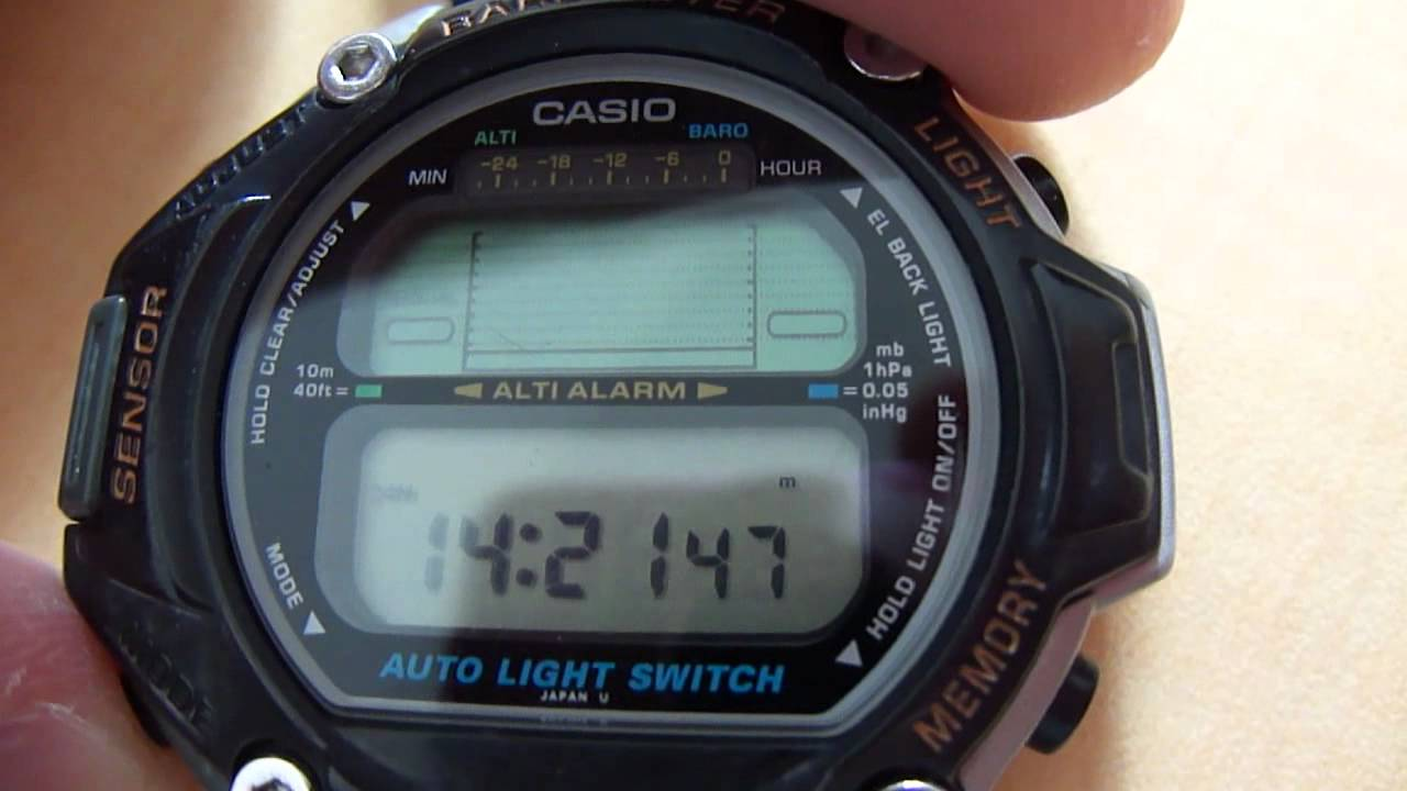 Casio pathfinder prt 20 youtube for Thermo scanner watch