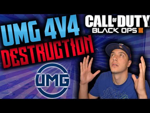 4V4 SEARCH & DESTROY DESTRUCTION! Black Ops 3 UMG Match! (BO3 Competitive)