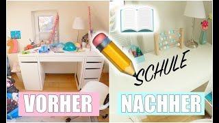 Schreibtisch für die Schule organisieren 📚 | Kinderzimmer aufräumen | Isabeau