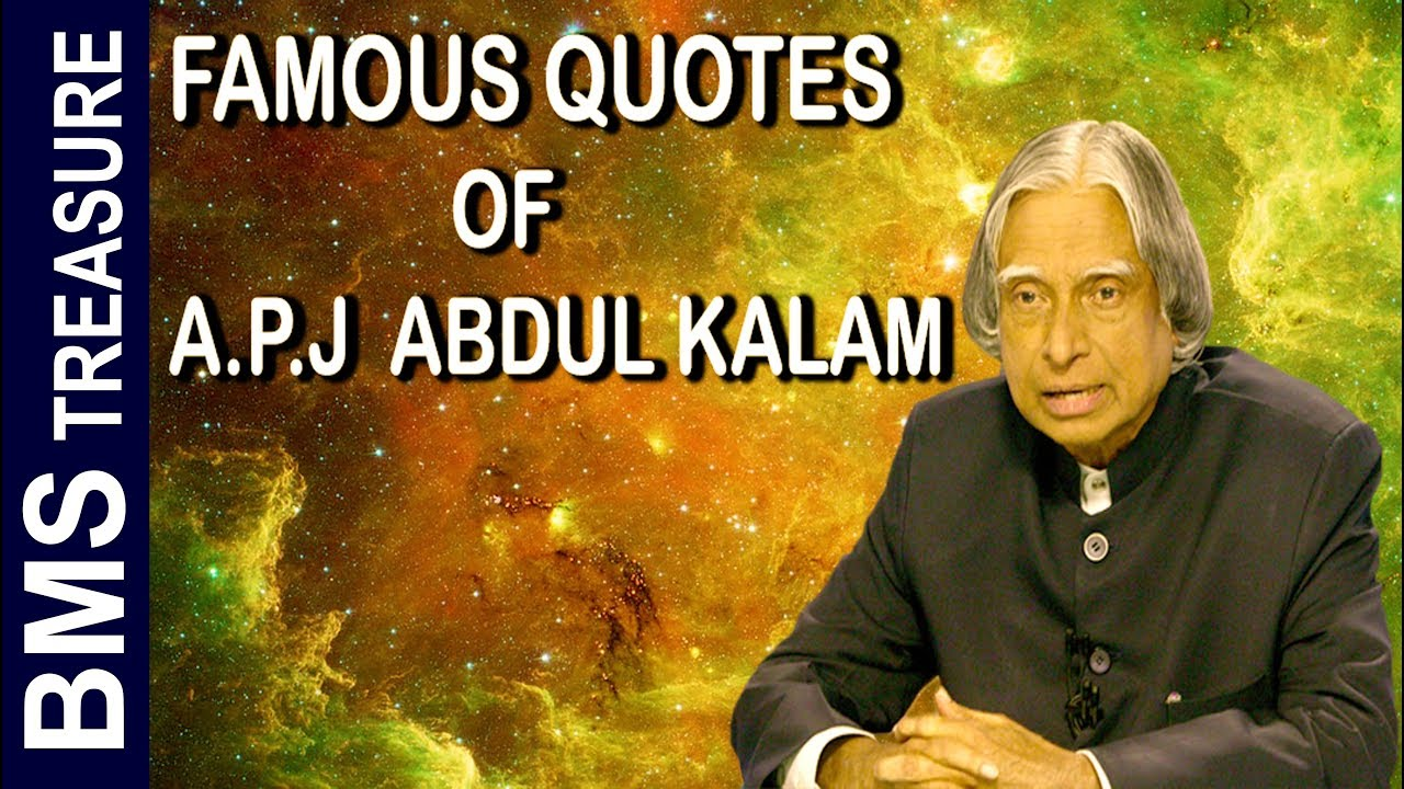 Best Quotes Of Apj Abdul Kalam For Successful Life In English Youtube