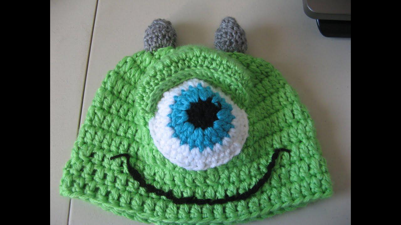 Crochet Green One Eye Monster Hat - Video One - Yolanda Soto Lopez ...
