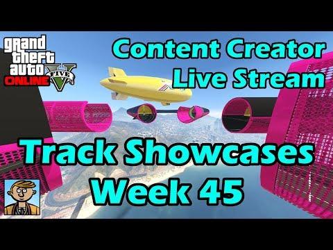 GTA Race Track Showcases (Week 45) [PS4] - GTA Content Creator Live Stream