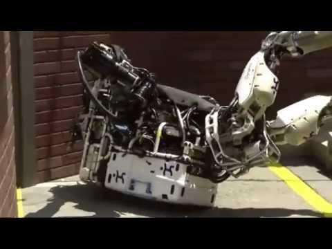 Robots Falling Down at DARPA Robotics Challenge