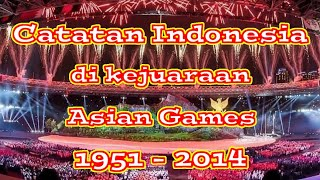 Gambar cover Catatan Perolehan Medali Indonesia di Asian Games mulai dari tahun 1951 hingga 2014