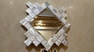 مرايا قيمه وشيك ديكور للحائط وسهله جدا في تنفيذها Recycled mirrors using simple materials