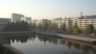 (2011/09/26)松涛園旅館から望む元山の通勤通学風景