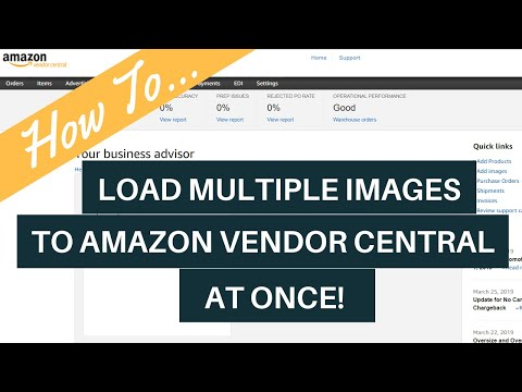 How To: Bulk Image Load on Amazon Vendor Central