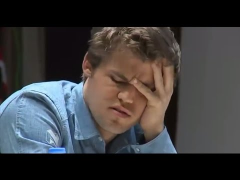Magnus Carlsen Upset, Bored and Unhappy moments against Anand - Shamkir Chess Tournament 2015
