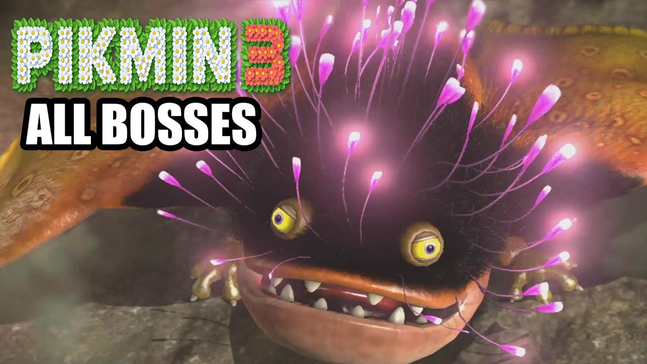 Pikmin 3 All Bosses Youtube
