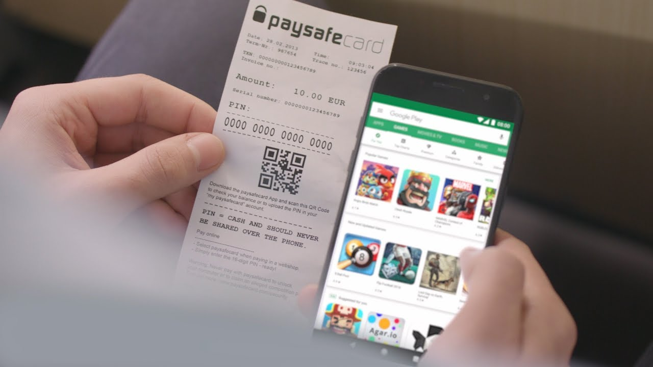 Google Play Mit Paysafe