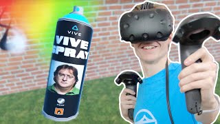 VR GRAFFITI SIMULATOR!  | ViveSpray (HTC Vive Gameplay)