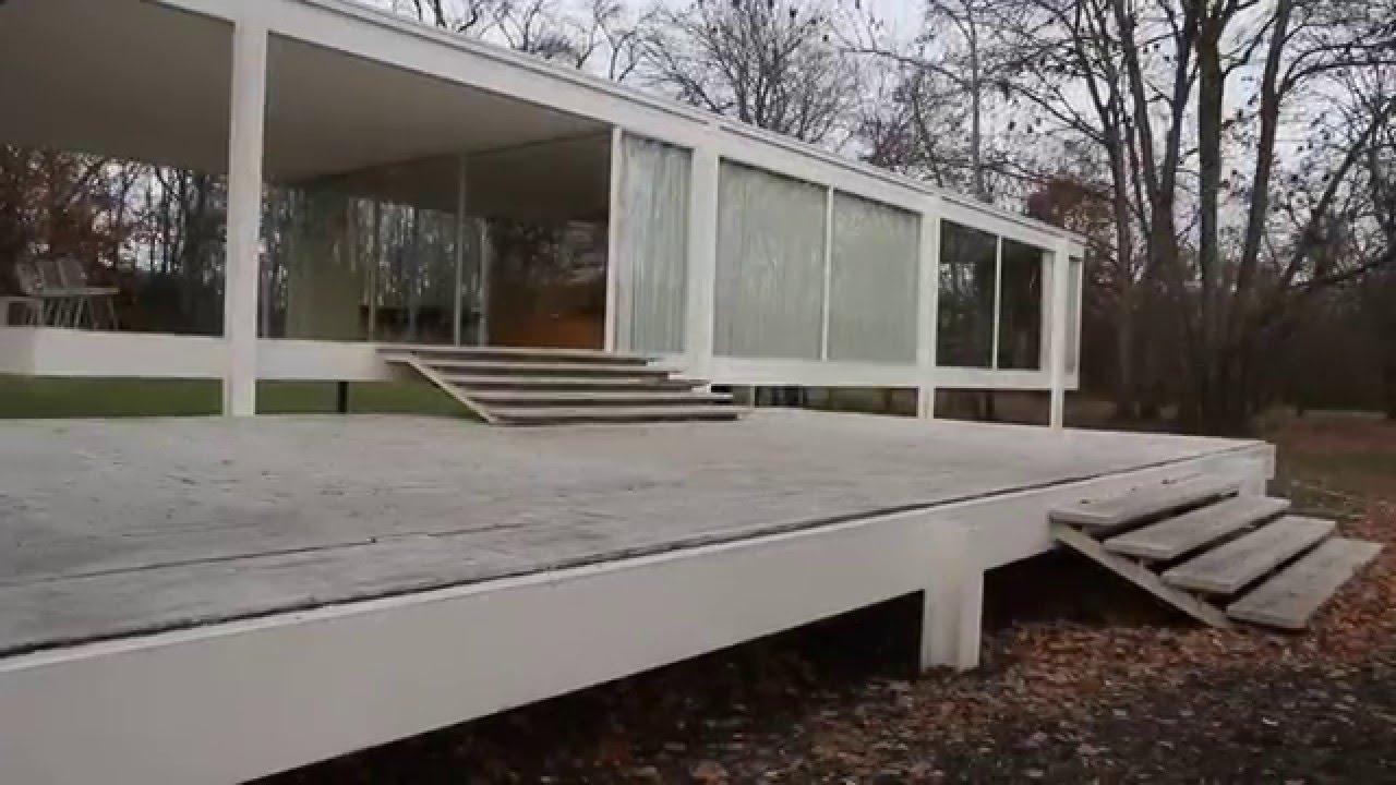 Passeio pela famosa Casa Farnsworth de Mies van der Rohe  YouTube