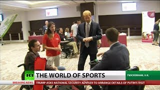 Prince Harry Visits Injured Rugby Players