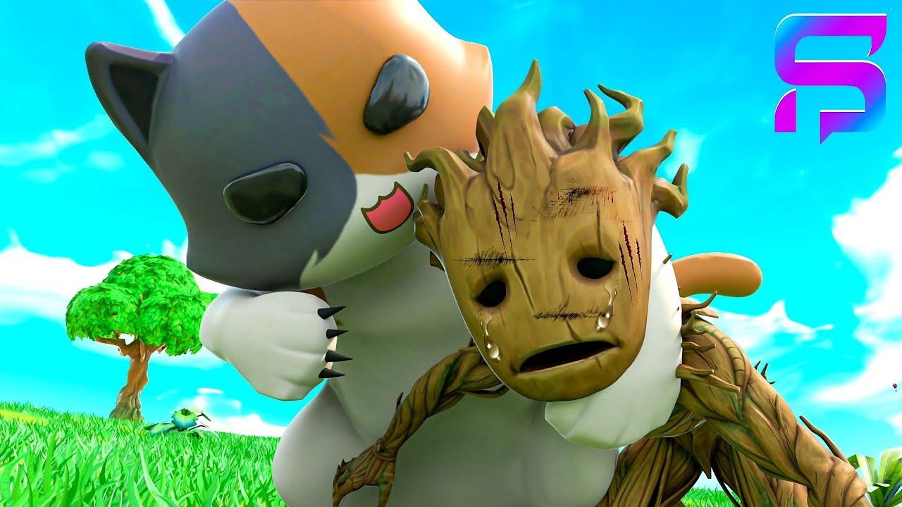 Download BABY GROOT VS KIT - Best Friends FIGHT.... ( Fortnite Short )