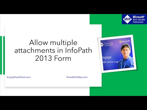 InfoPath 2013 allow multile attachments in SharePoint Online