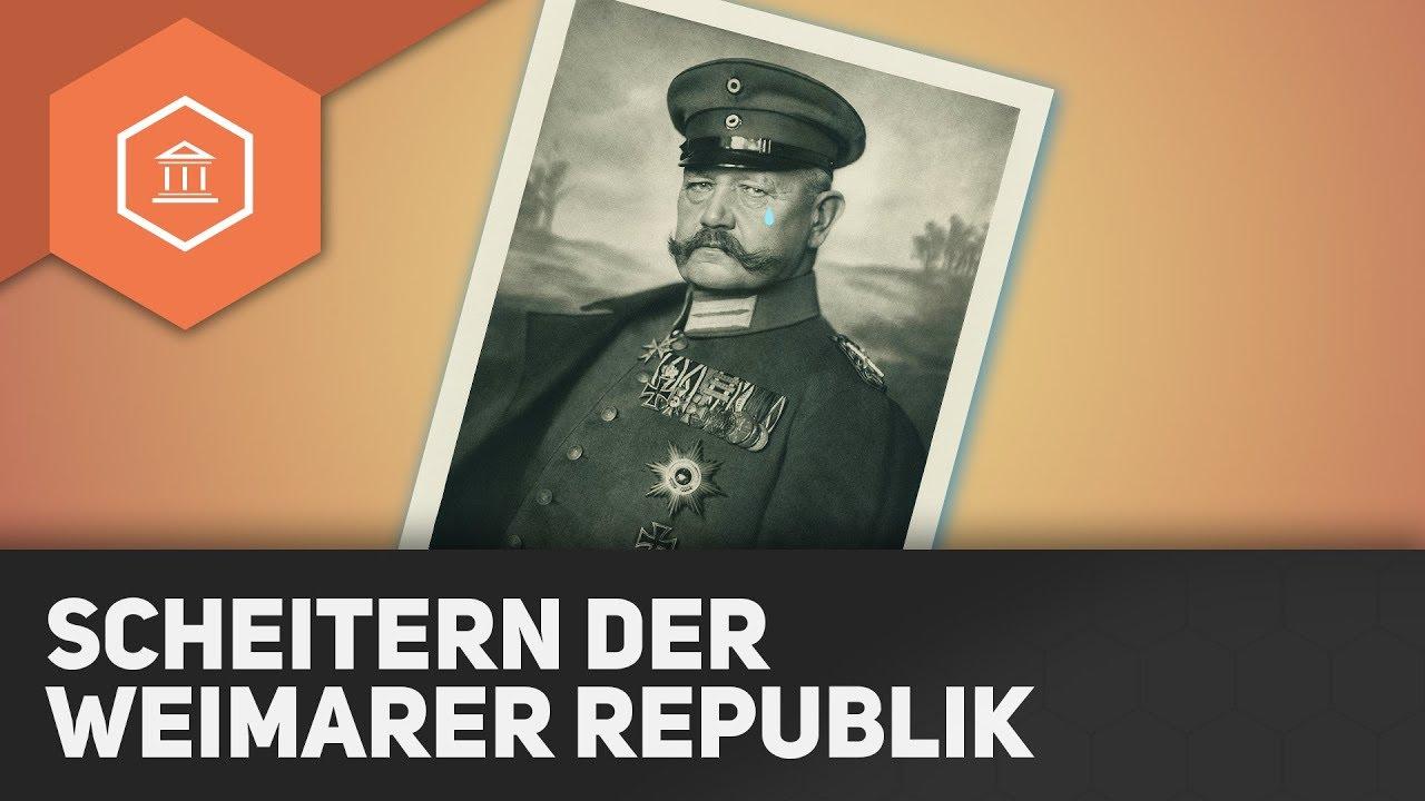 Das Scheitern Der Weimarer Republik