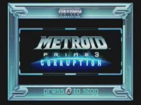 Metroid Prime 3 Wii Preview Channel Set 3