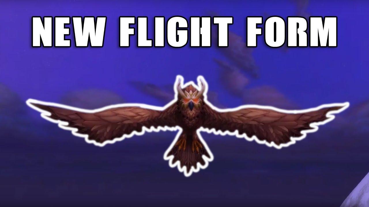 WoW:Legion - New Druid Flight Form Sentinel Owl *UPDATED* - YouTube