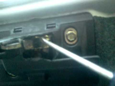 Open mercedes w202 trunk without key dead battery youtube for How to unlock mercedes benz door without key