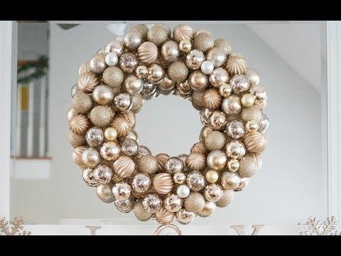 DIY Chrismas Ornament Wreath Tutorial