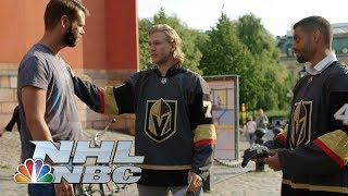 Golden Knights players Karlsson, Bellemare recruit fans in Sweden I NHL I NBC Sports