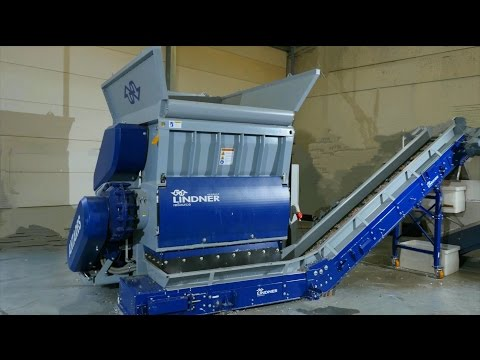 Lindner Antares 1600 Shredder - LDPE Film - In Front of EREMA Recycling