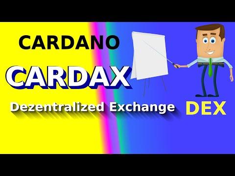 CARDAX Dezentrale Exchange auf dem ersten Blick.