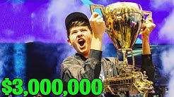 Bugha *WINS* Fortnite World Cup SOLOS Finals!! ($3,000,000)
