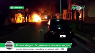 Nuevo ataque de quemacoches en la región